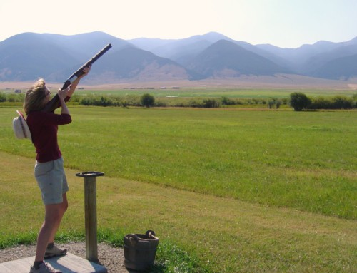 Shooting skeet at Ruby Springs, Montana