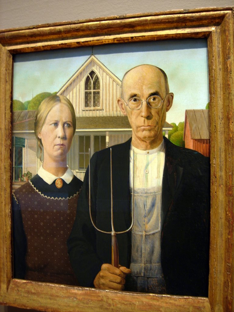 Famous Painting Of The Farmer And His Wife