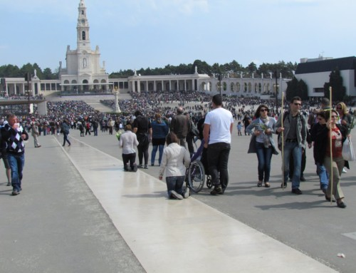 Following the faithful in Fatima, Portugal