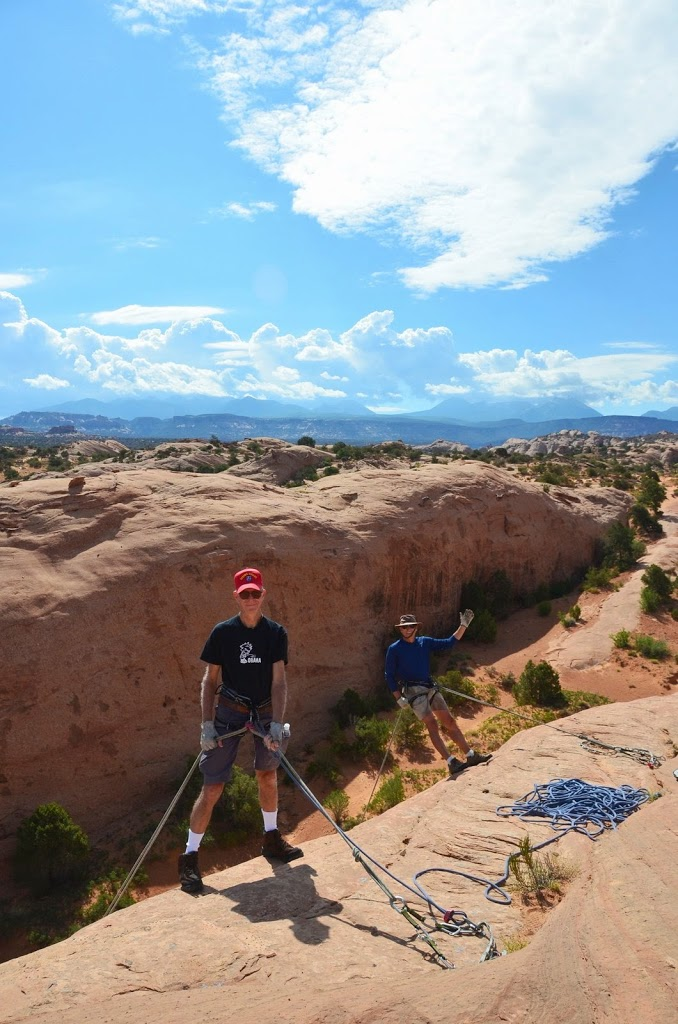Rappelling And Relaxing In Moab Ut Where Are Sue Amp Mike