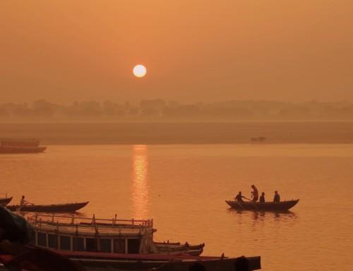 Sacred Ganges River in Varanasi, India