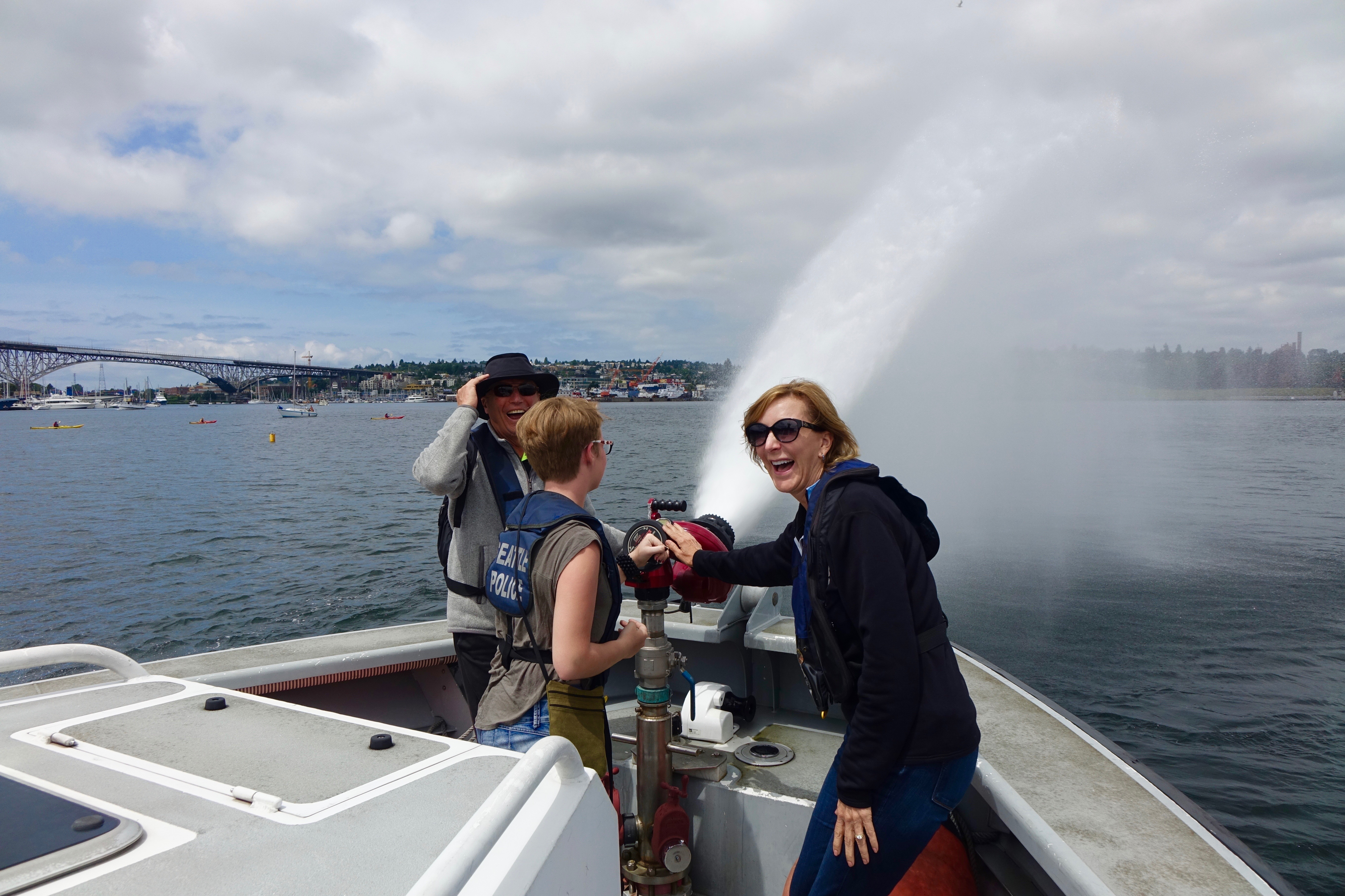 Their water hoses pump directly out of Lake Union.