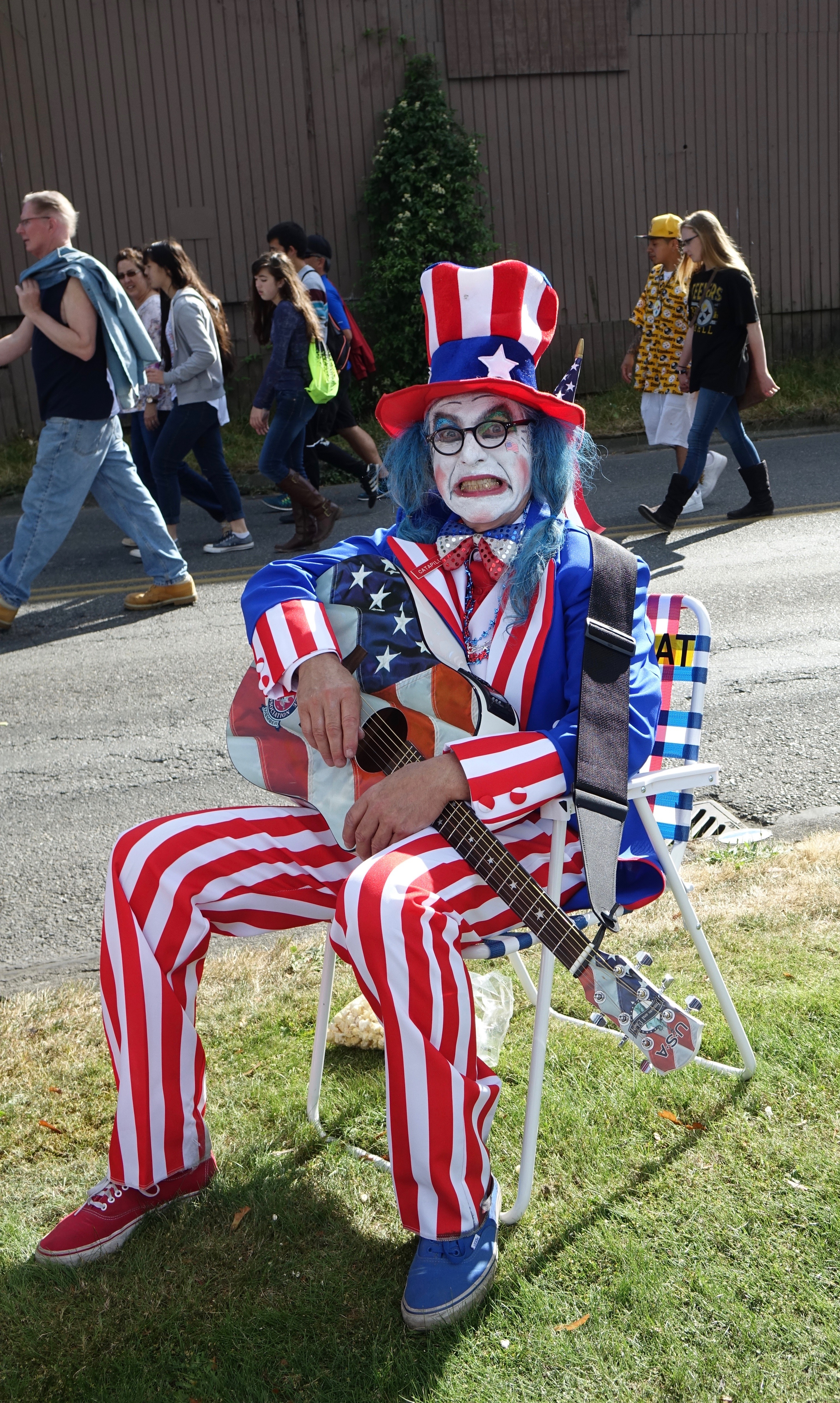 Uncle Sam is looking unhappy this election year.