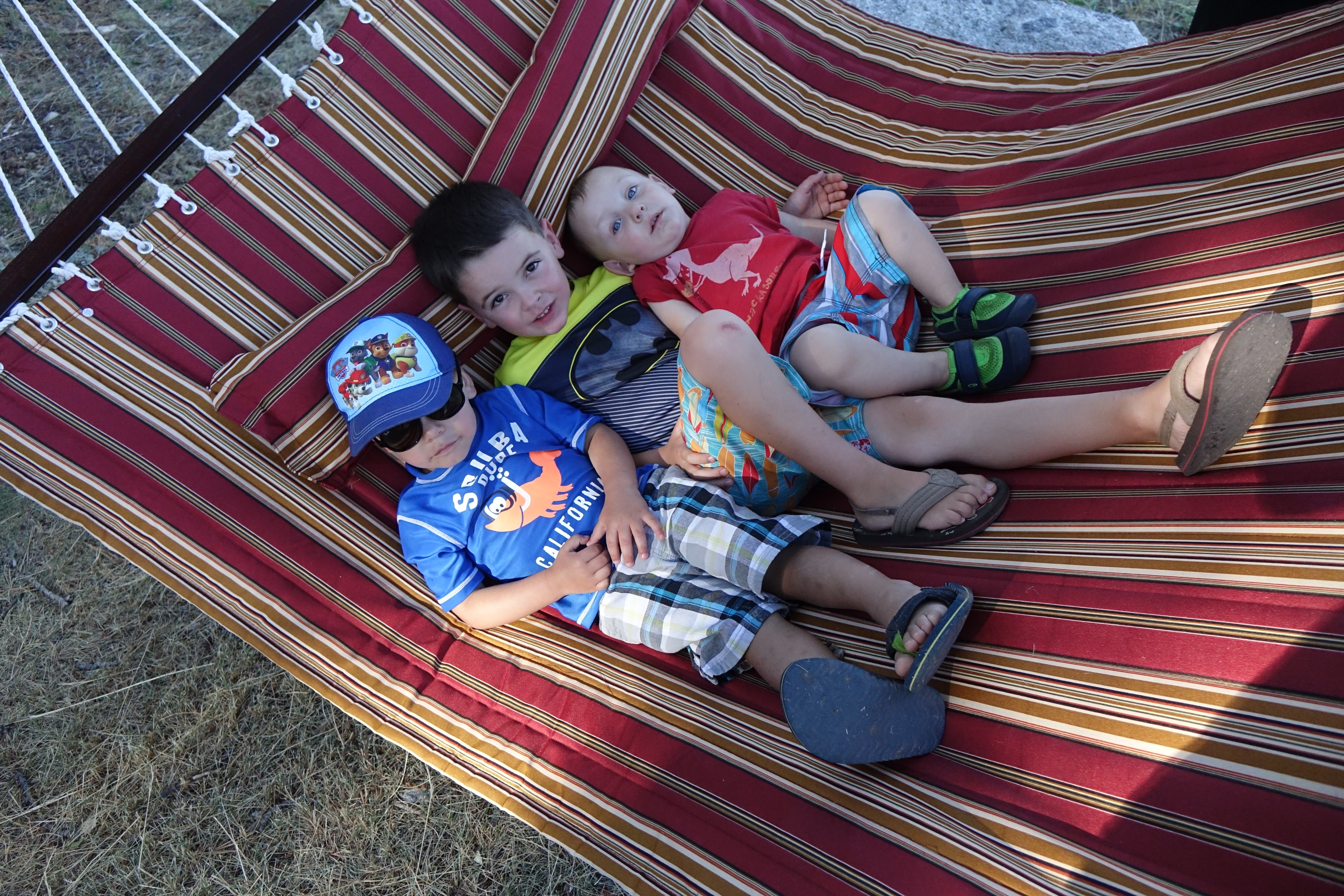 Cousins hammocking after an exhausting day of throwing rocks in the lake.